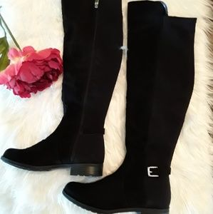 Black Suede OTK Tall Boots